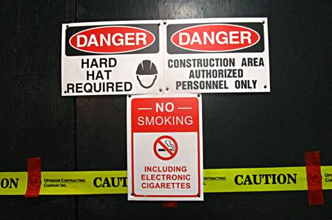A workplace safety posters