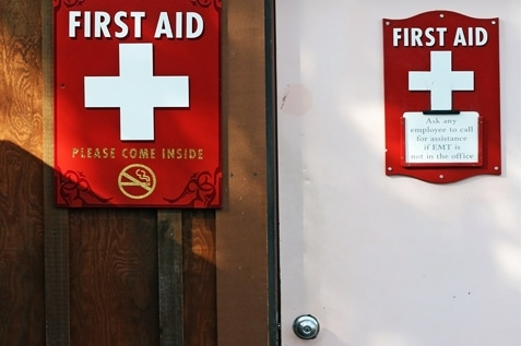 First aid station for employees