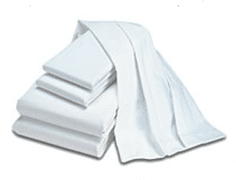 Sheets and pillow cases from Alsco