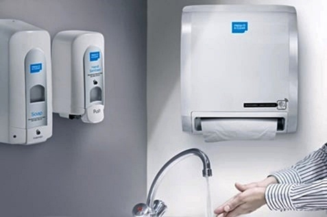 Washroom with Alsco hand hygiene facilities