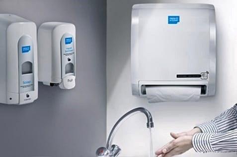 Washroom with Alsco hand hygiene facilities