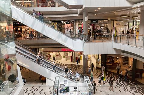 A view of a big shopping mall