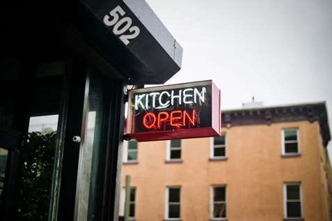 Kitchen open signage