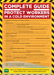 Protect workers from cold environment