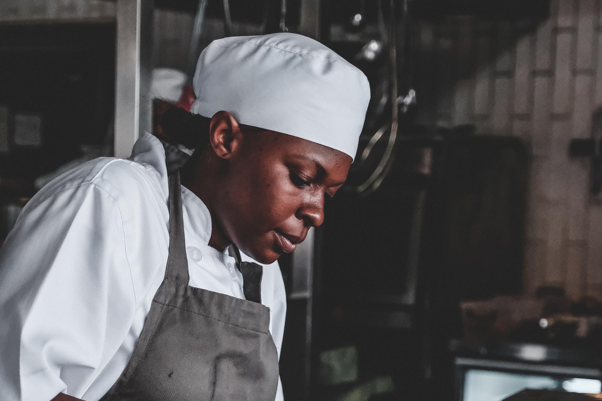 Chef wearing uniform