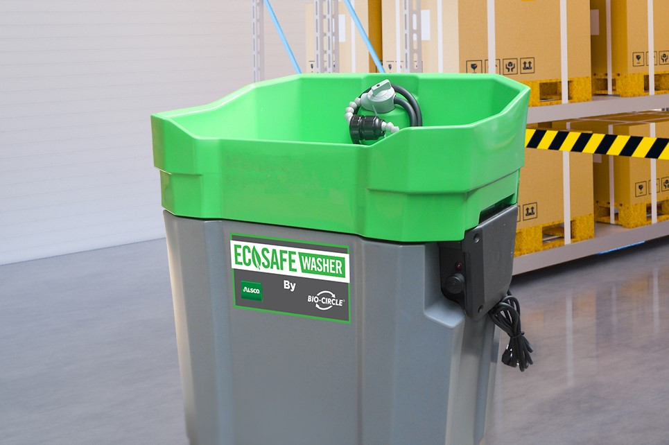 New Ecosafe Washer in a warehouse